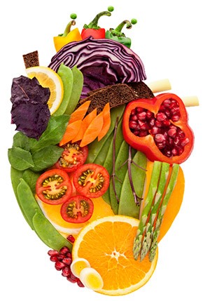 Fruit & veggie heart