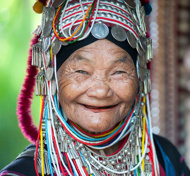 Elderly lady of the Akha tribe
