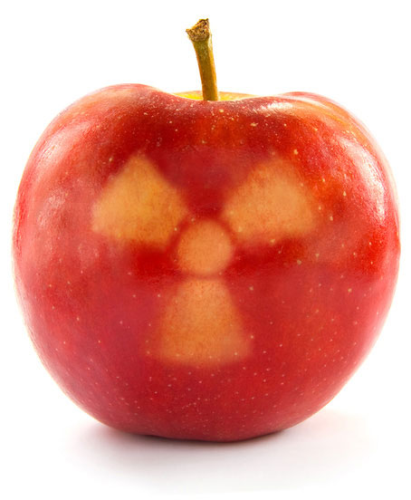 Irradiated apple