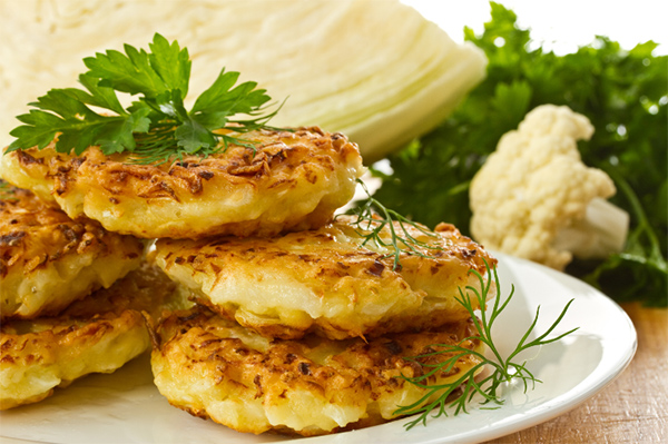 Cauliflower pancakes