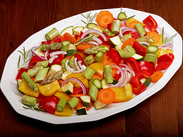 Chopped raw salad