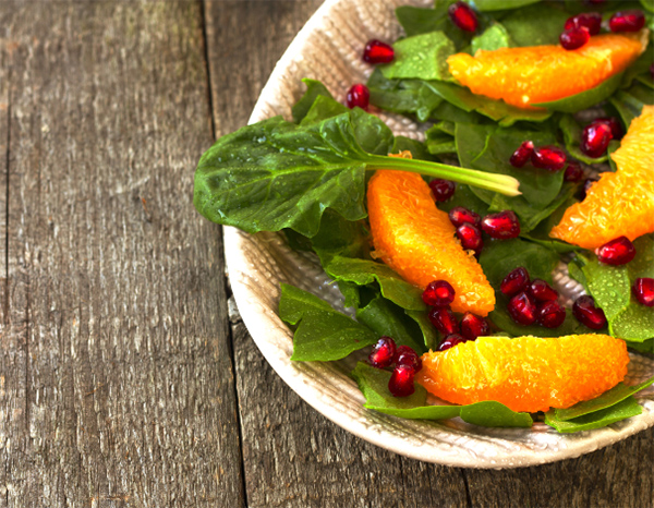 Orange & spinach salad